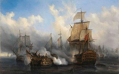 """Conferencia """"Trafalgar"""" impartida por el académico de Honor de la RAM, D. Hugo O´Donnell."""